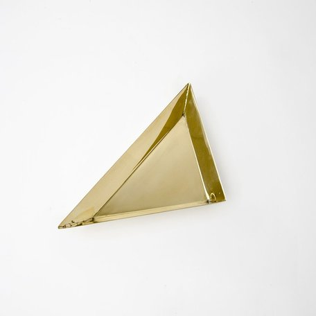 Brass Triangle Tray -Large