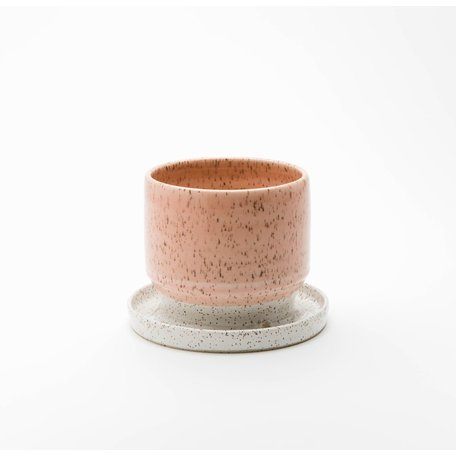 Dipped Speckled Planter w/ base -Assorted Colours