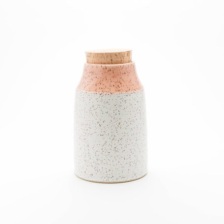 Dipped Speckled Medium Canister -Assorted Colours