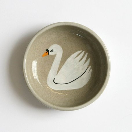 Swan Jewellery Dish, hand painted