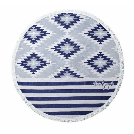 The Beach People Round Towel -Montauk