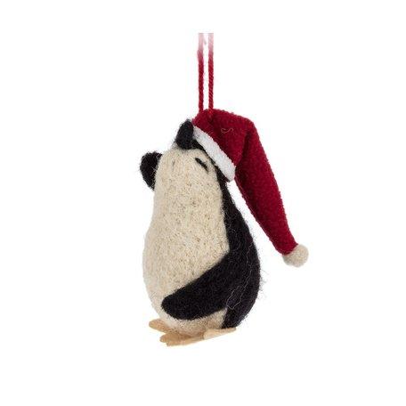 Penguin with Santa Hat Ornament