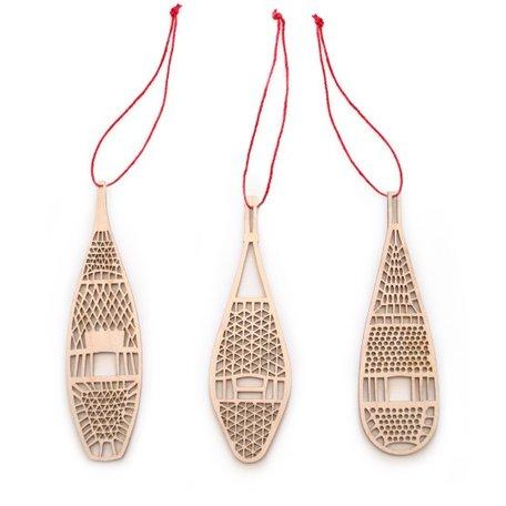 Snowshoe Ornaments Set/3