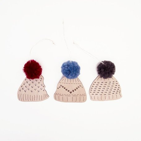 Toque Ornaments Set/3