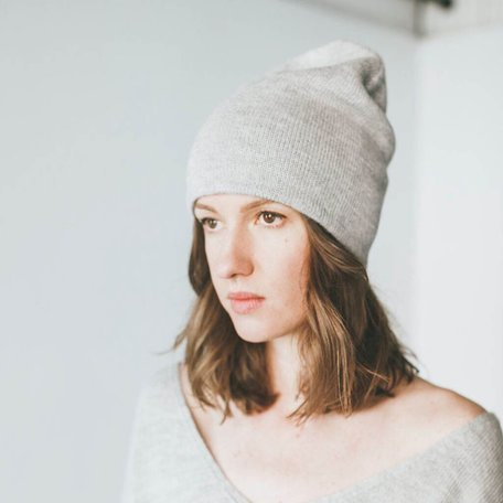 Andes Beanie -Light Grey