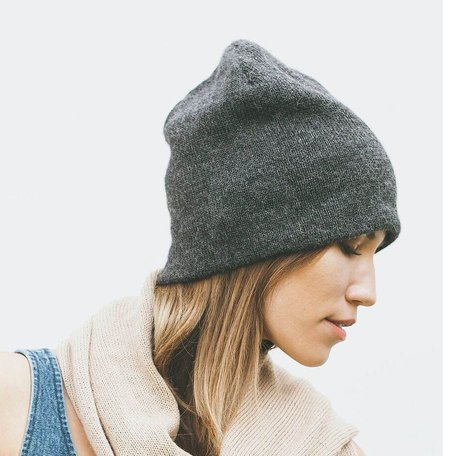 Andes Beanie -Charcoal