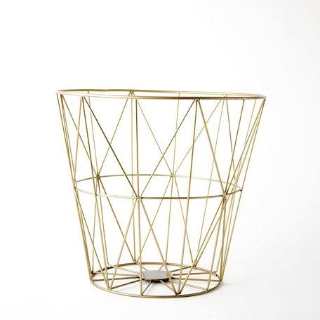 Brass Diamond Pattern Wire Basket -Large