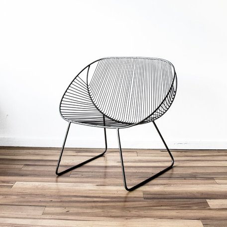 Wire Scoop Chair