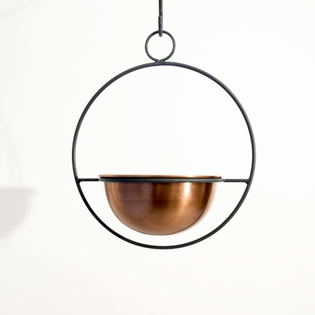Copper Hanging Planter -Small
