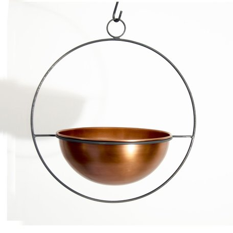 Copper Hanging Planter -Large