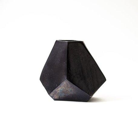 Noir Aristide Cast Geometric Vase -Large