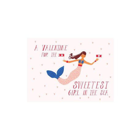 Girl in the Sea Card