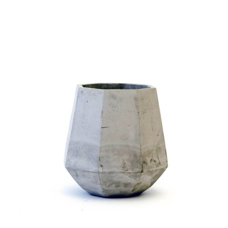 Facet Concrete Planter Tall