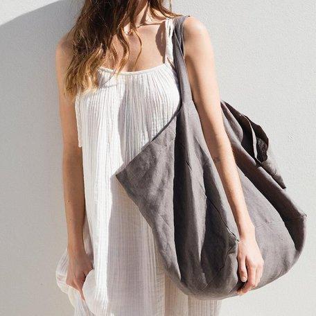 Linen Tote Bag -Charcoal