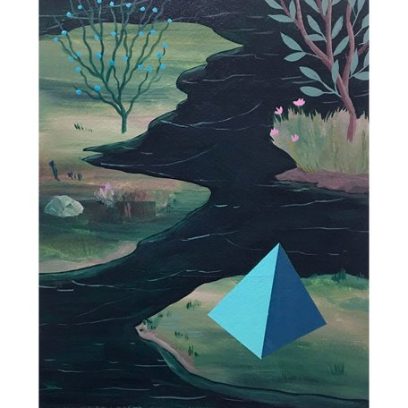 """Pyramid Marsh"" Original Painting 8x10"