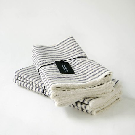 Striped Cotton Napkins -Set/4