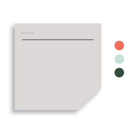 Colourblock Pad -Medium A
