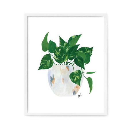 "Golden Pothos Print 8x10"""