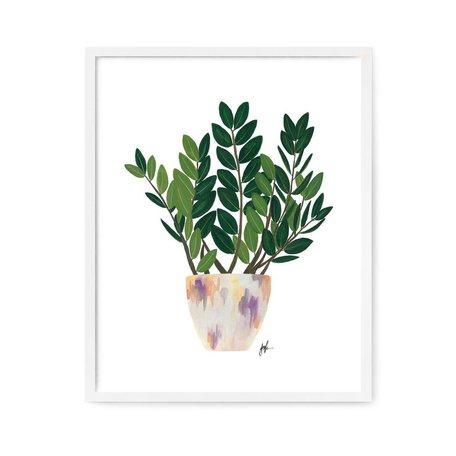"""ZZ Plant Print -8x10"""""""