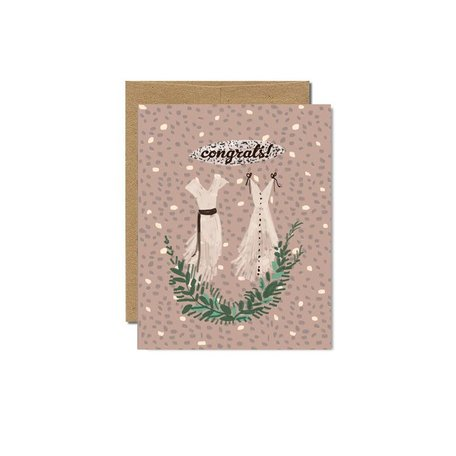 Two Wedding Dresses Card