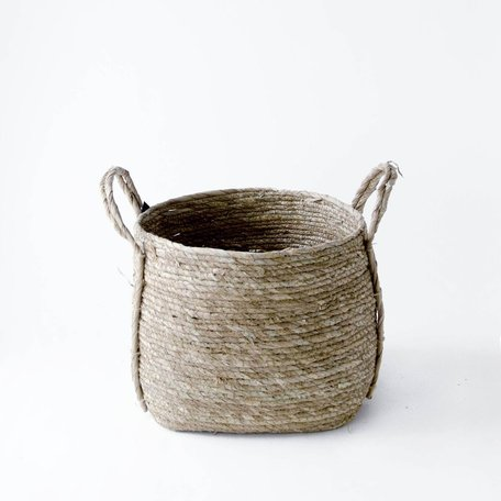 Woven Basket w/ Handle -Small
