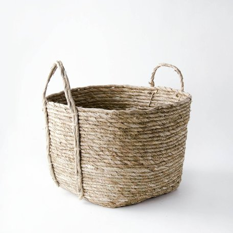 Woven Basket w/ Handle -Large