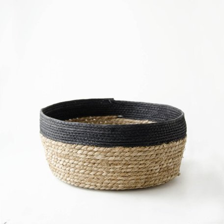 Black Edged Seagrass Basket -Large