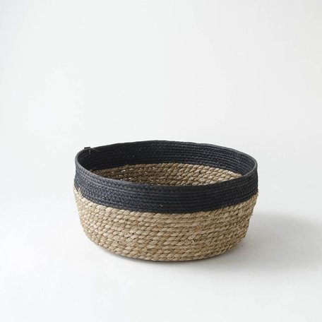 Black Edged Seagrass Basket -Medium