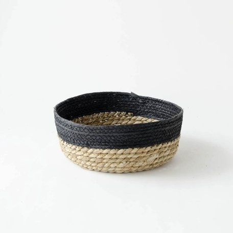 Black Edged Seagrass Basket -Small
