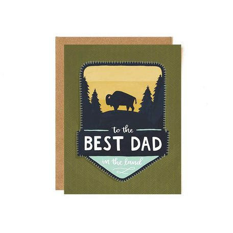 Best Dad Patch Card