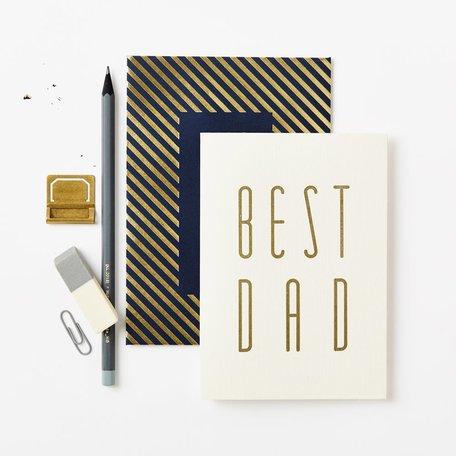 Gold Best Dad Card