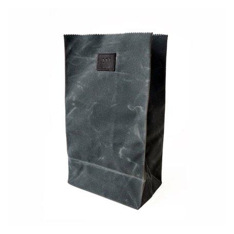 Waxed Canvas Lunch Bag -Slate