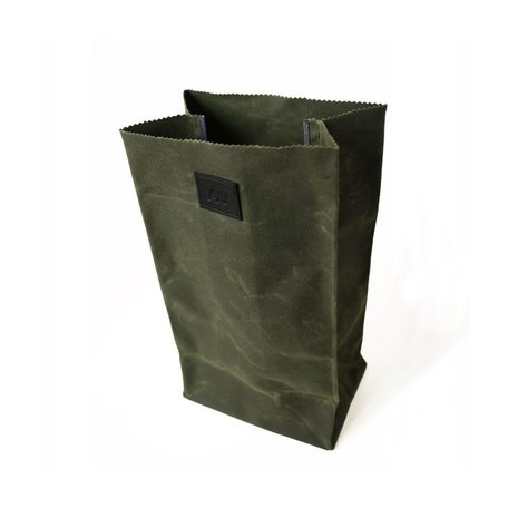 Waxed Canvas Lunch Bag -Olive