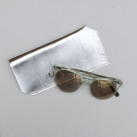 Sunglass Case -Silver