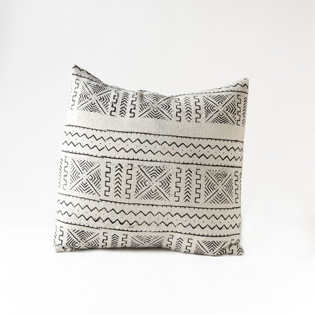 White Mudcloth Cushion -Acoustic