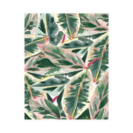 Green Lush Leaf Print 8x10