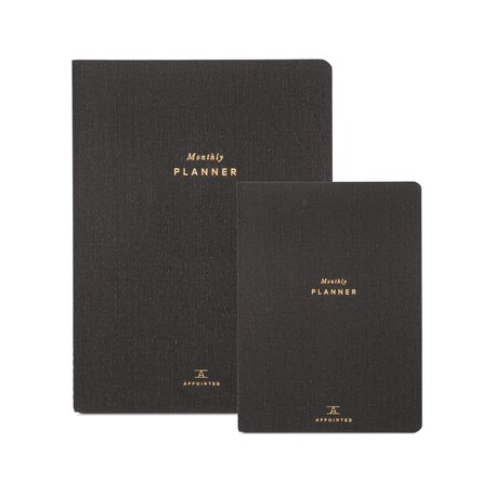 Blank Monthly Planner LARGE -Charcoal Grey