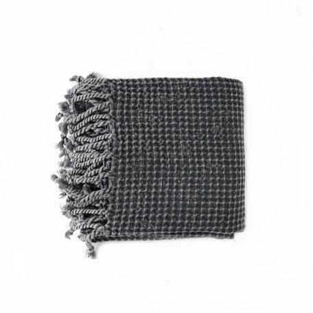 Waffle Towel -Dark Grey
