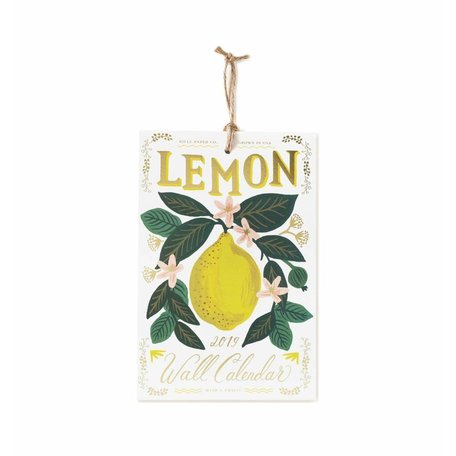 2019 Lemon Wall Calendar