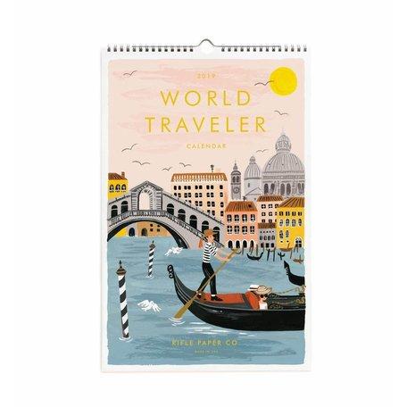 2019 World Traveller Wall Calendar