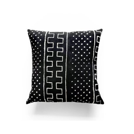 Black Mudcloth Cushion -Nightfall