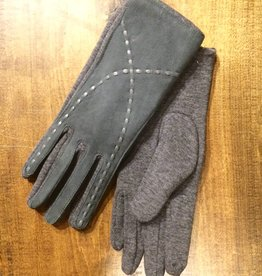 Look Saddle Stitch Suede Gloves