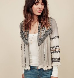 Love Stitch Beaded Cropped Jacket