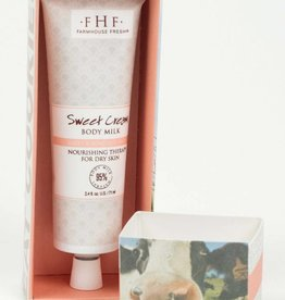FarmHouse Fresh Sweet Cream Body Milk Hand Cream 2.5 oz