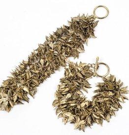 Blue Sky Vintage Inspired Leaf Bracelet Brass