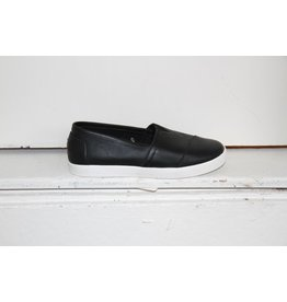 TOM SHOES BLACK LEATHER