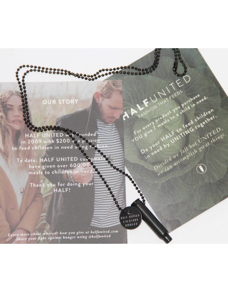 HALF UNITED'S THE EASTWOOD FIGHTING HUNGER NECKLACE