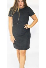 ESPRIT FAUX SUEDE STRETCH DRESS