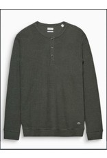 ESPRIT Ribbed slub jersey Henley, cotton