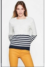 ESPRIT Nautical cable knit jumper in blended cotton